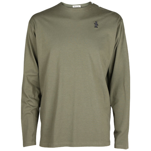 Long Sleeve Cotton T-Shirt Olive