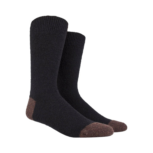 Fleece Wool Socks Black