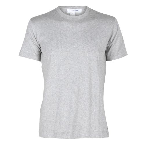 Basic Knit T-shirt low logo Grey