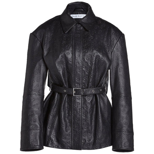 Rob Leather Jacket Black