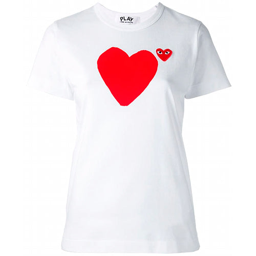 Heart Print Ladies T-shirt White