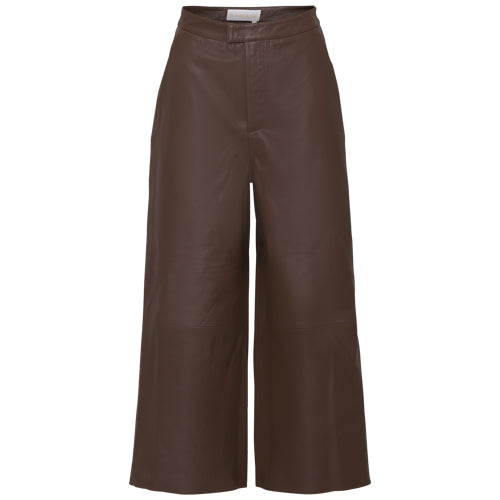 Manu Leather Pants Brown
