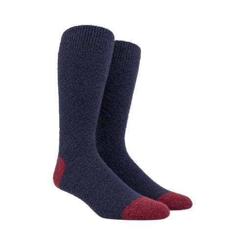 Fleece Wool Socks Navy