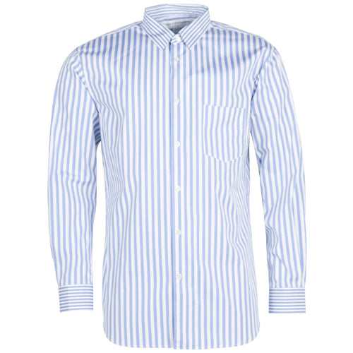 Mens Striped Shirt Light Blue