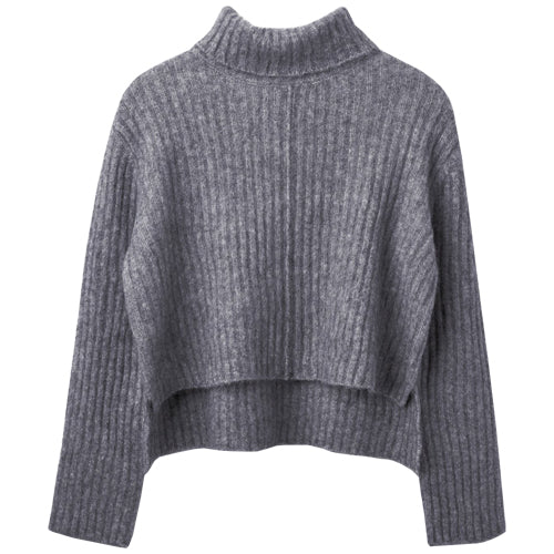 You Know Short Sweater Grey Melange