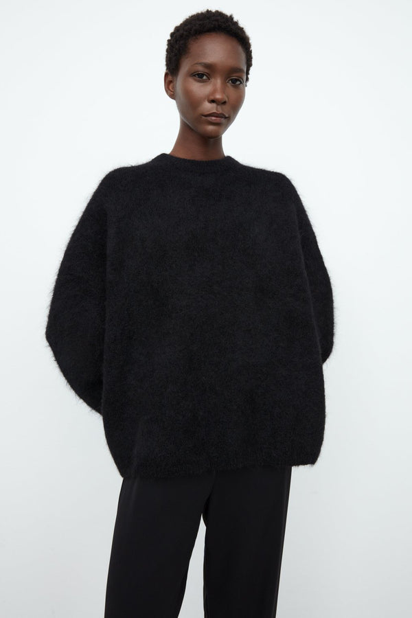 Boxy Alpaca Knit Black