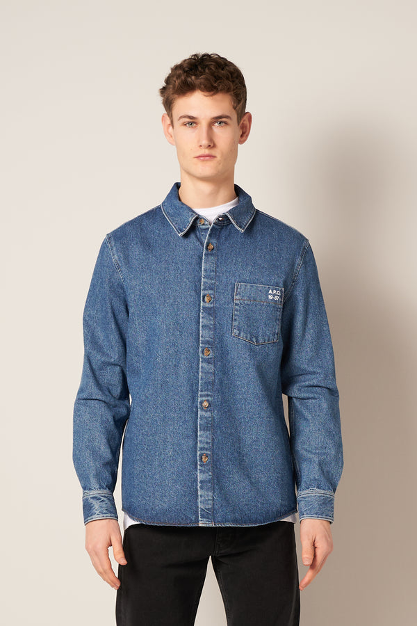 Victor Overshirt Light Blue
