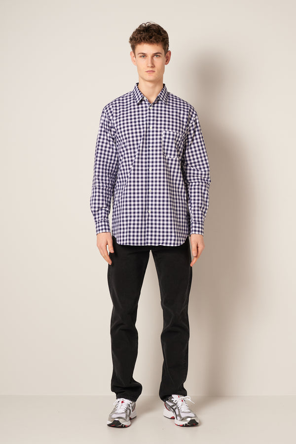 Gingham Shirt Navy/White