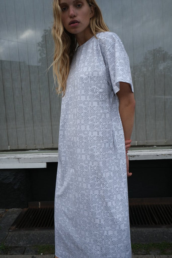 Arthur Dress Techno Grey Print
