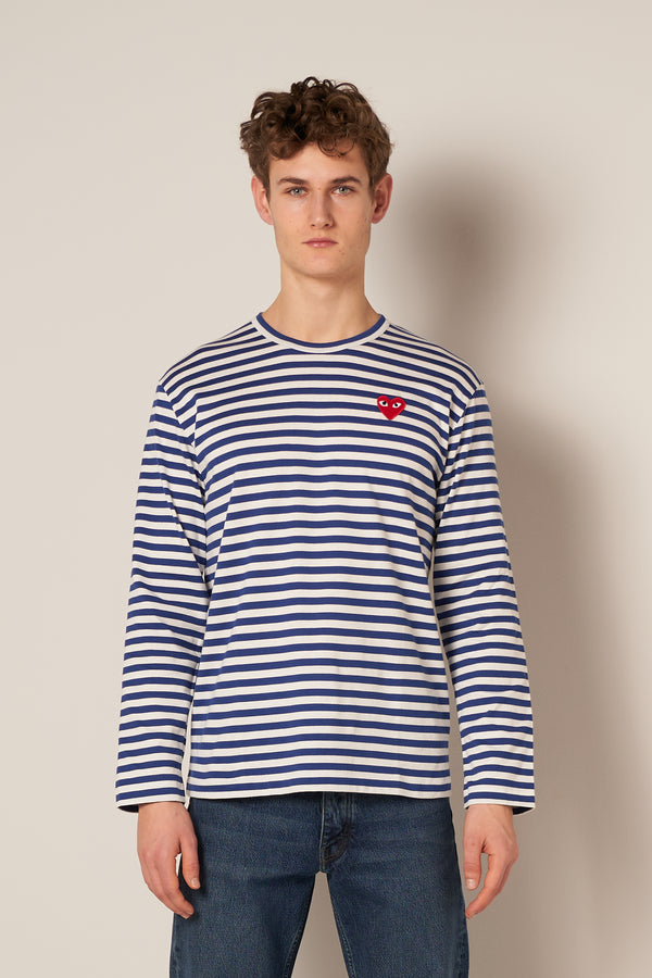 Striped LS T-shirt Navy