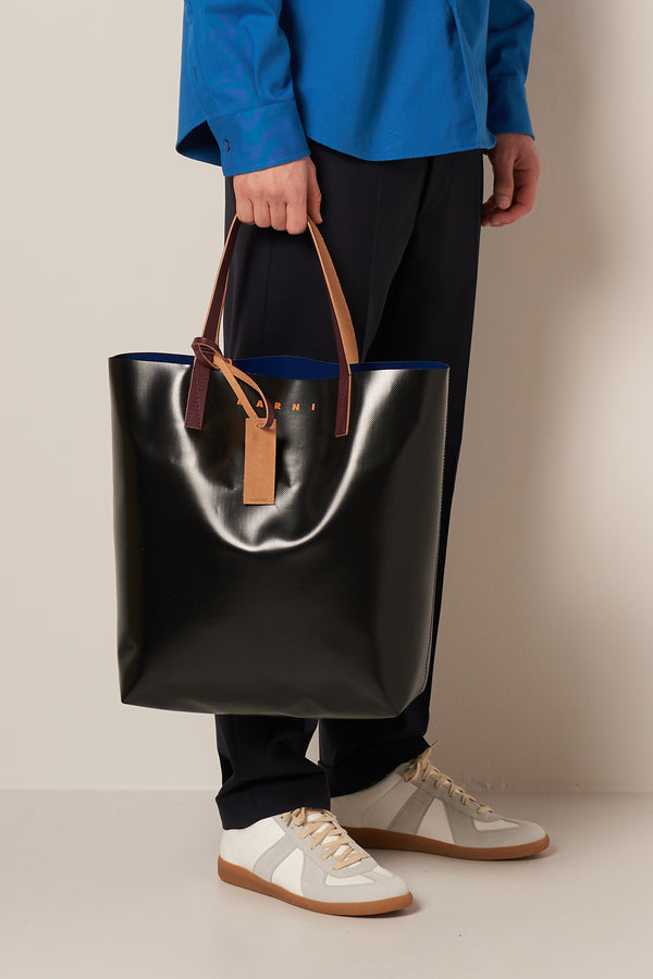 North-South Shopping Bag Blue Black