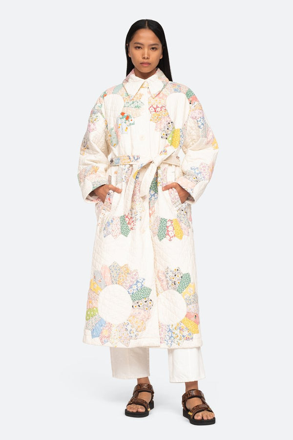 Linden Patchwork Quilted Coat Multi