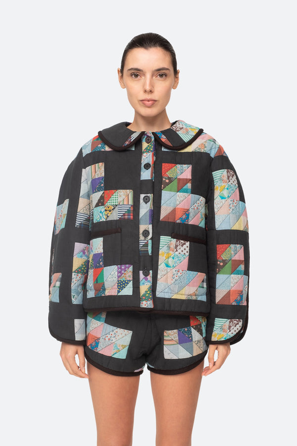Tilia Patchwork Quilted Jacket Multi