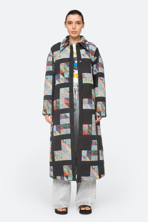 Tilia Patchwork Quilted Coat Multi