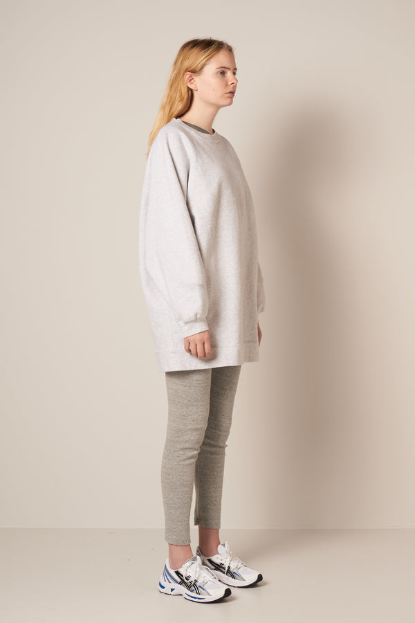 Baetown Long Sweat Light Heather Grey