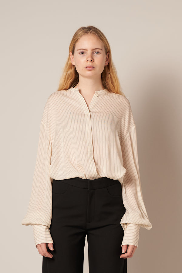 Assa Silk Shirt Ivory Stripe