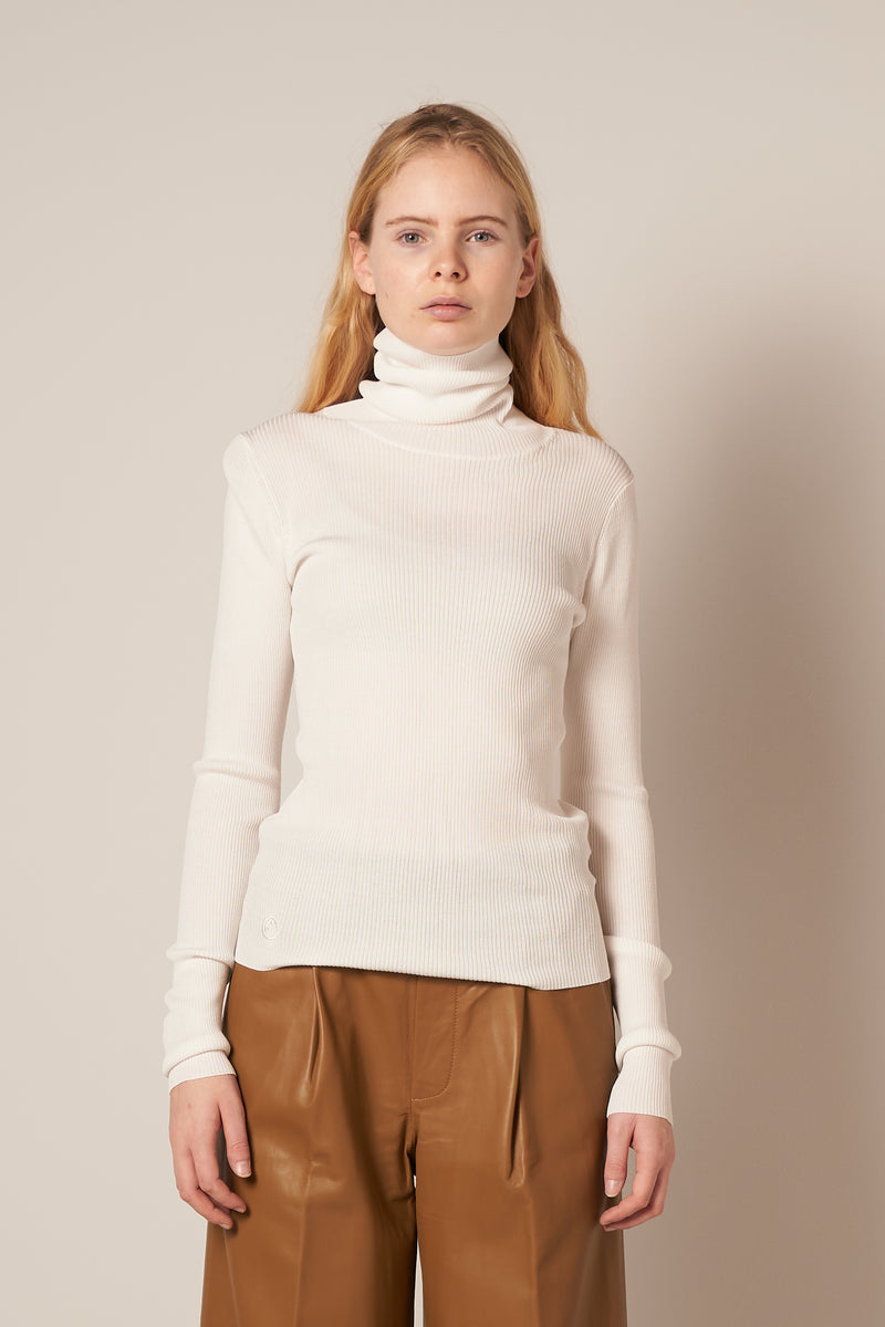 Basel Roll Neck Knit Egret