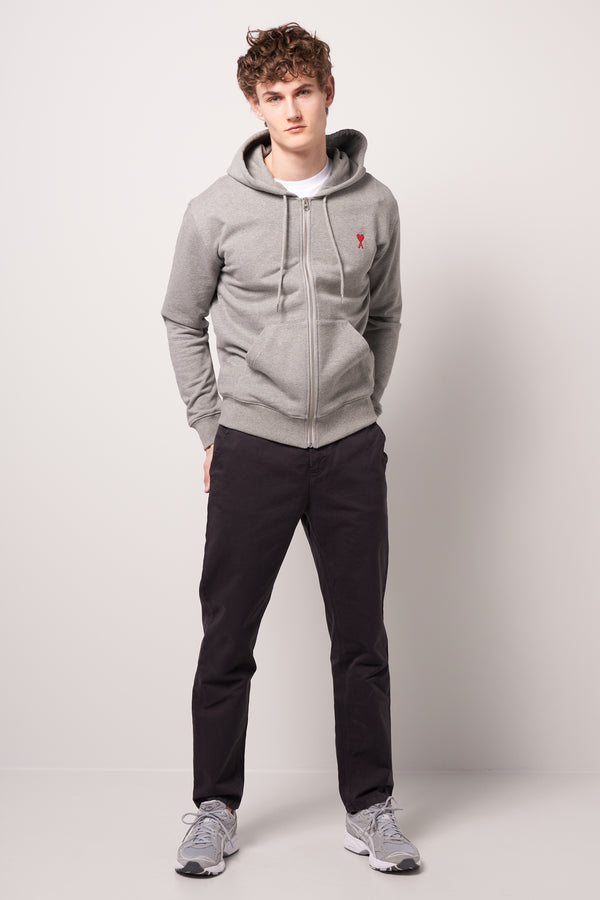 Ami de Coeur Zipped Hoodie Heather Grey