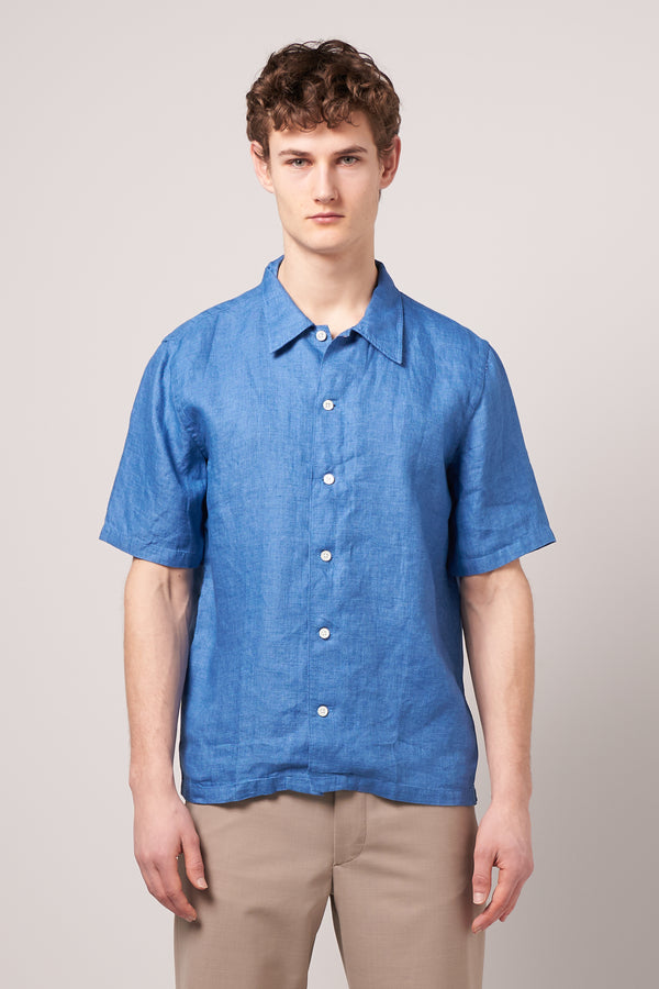 Space Shirt SS Chambray Blue
