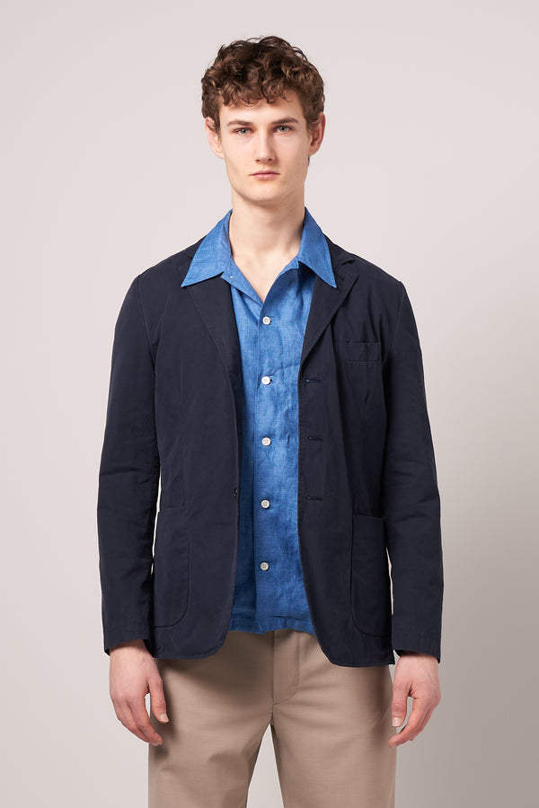 Pure Cotton Blazer Wim Navy