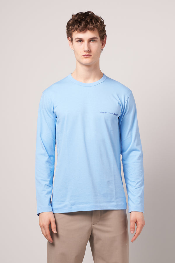 Long Sleeve CDG T-shirt Blue