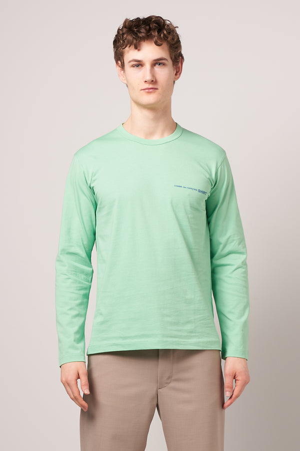 Long Sleeve CDG T-shirt Green