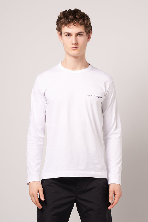 Long Sleeve CDG T-shirt White