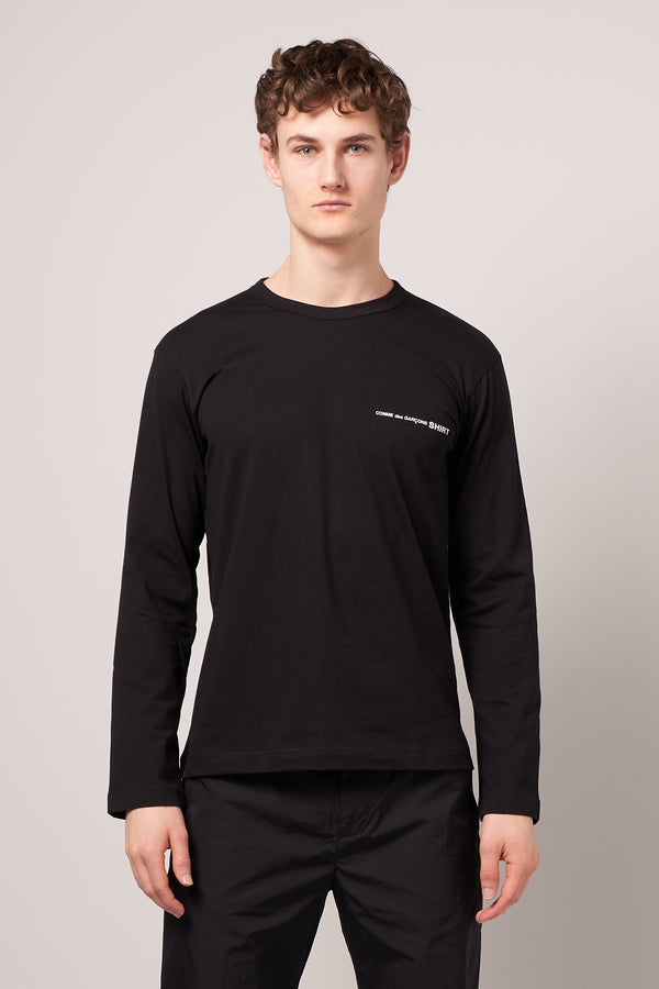 Long Sleeve CDG T-shirt Black