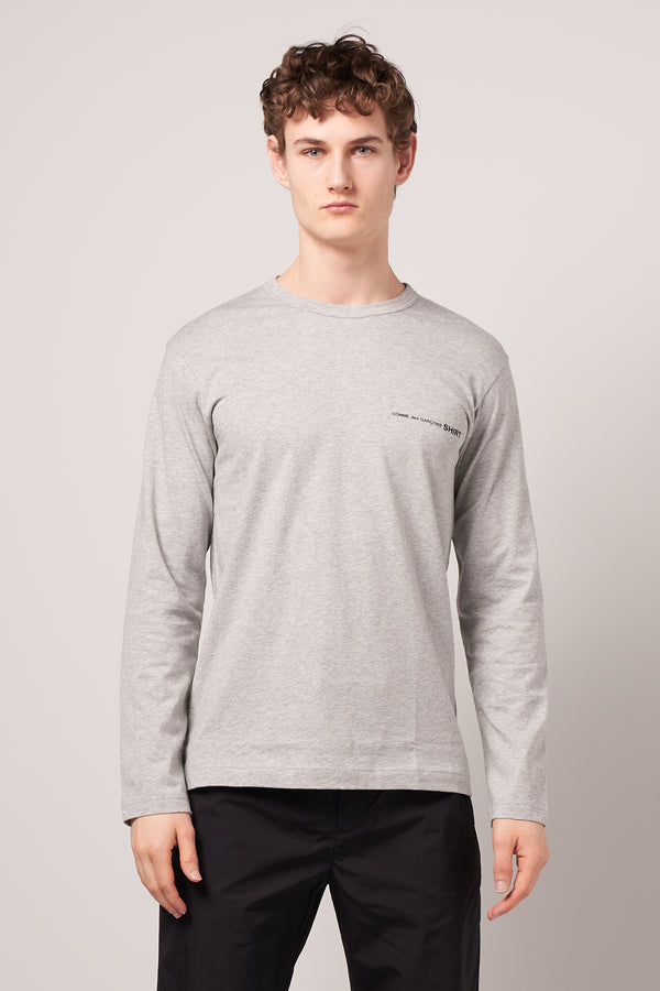 Long Sleeve CDG T-shirt Grey