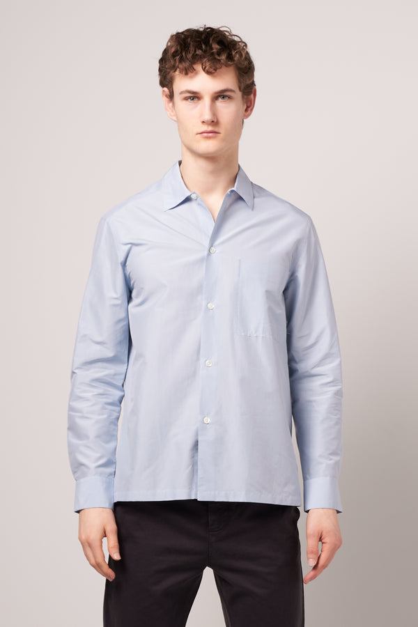 Silky Raw Shirt Sky Blue