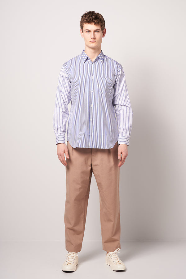 Mens Striped Shirt Blue