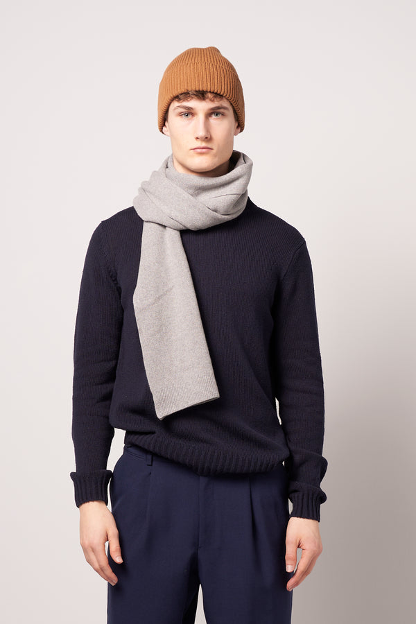 Merino Wool Scarf Heather Grey
