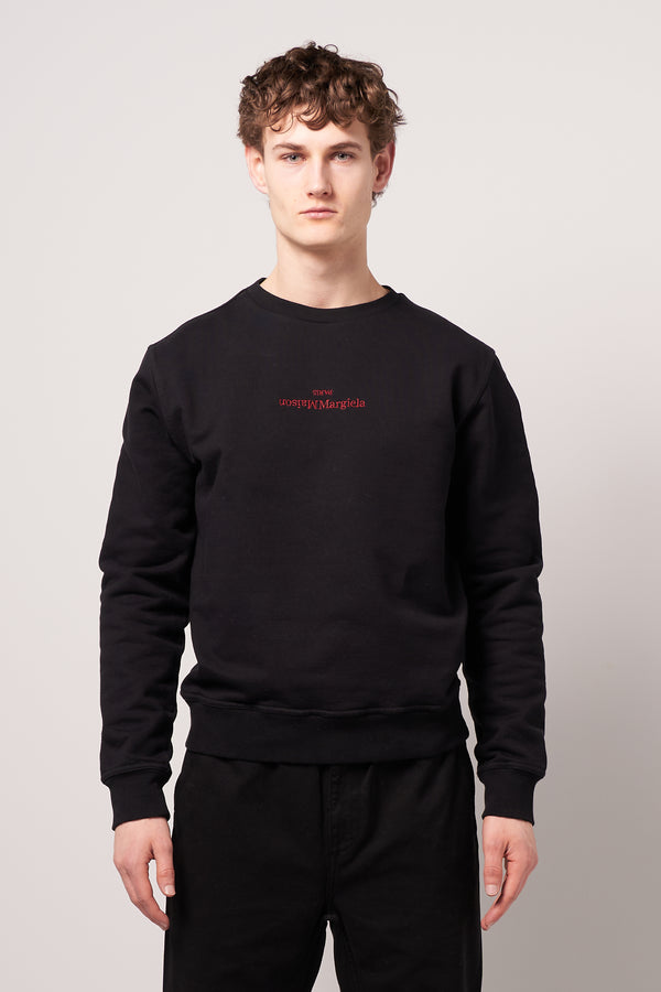 Embroidered Logo Sweatshirt Black