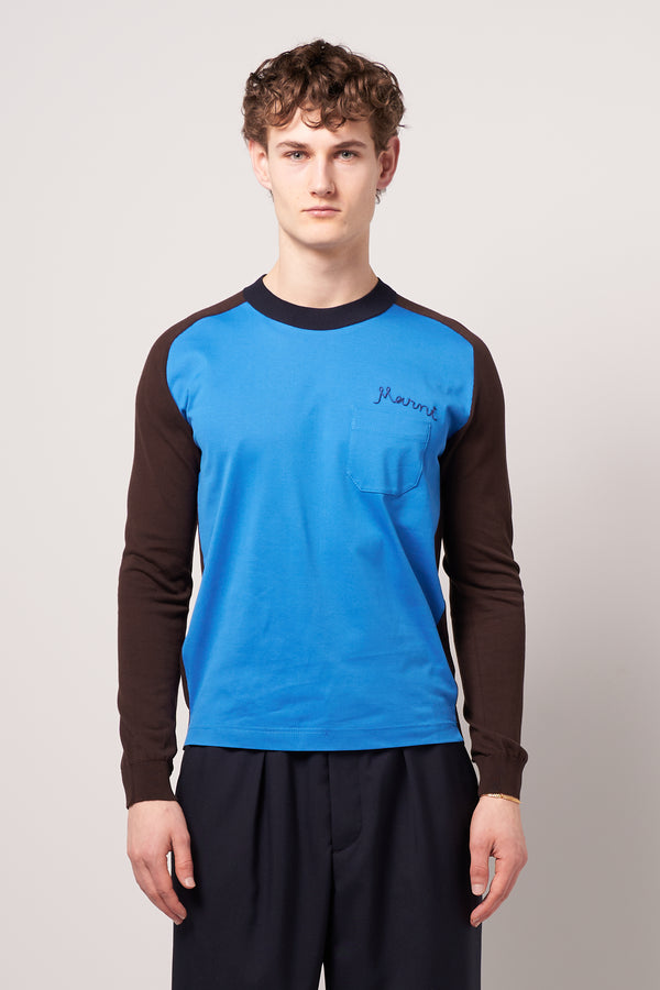 Roundneck Pocket Sweater Blue