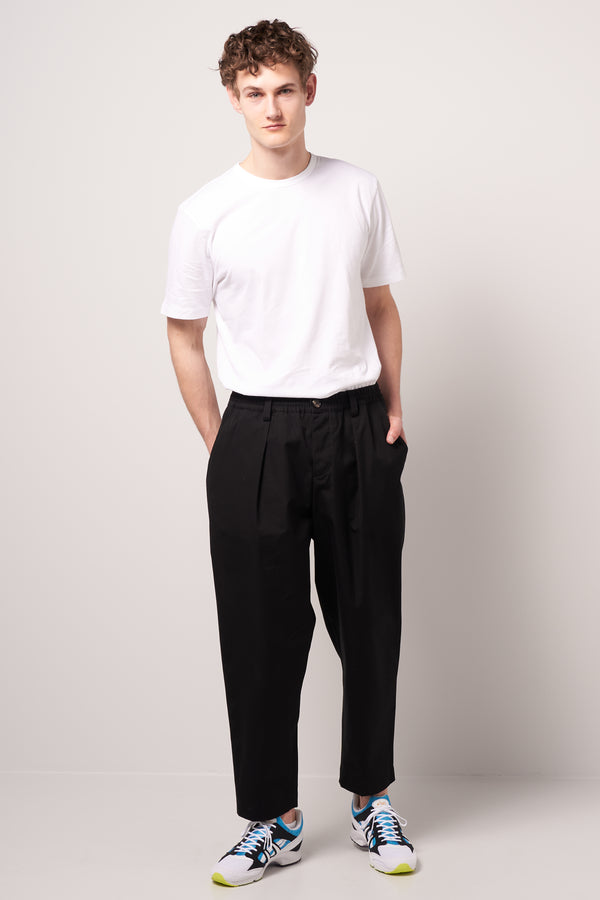 Lightweight Cotton Twill Trousers Black