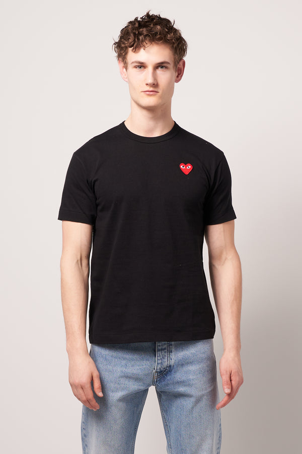 Red Heart T-shirt Black