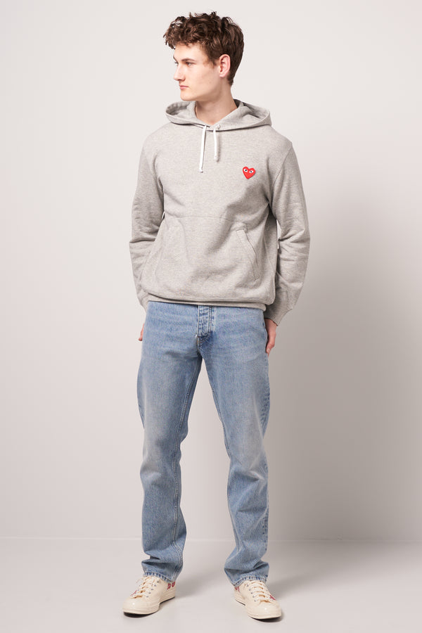 Red Heart Hooded Sweatshirt Grey