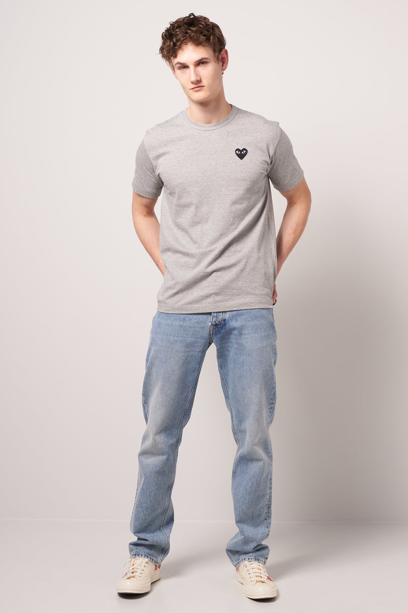 Black Heart T-shirt Grey