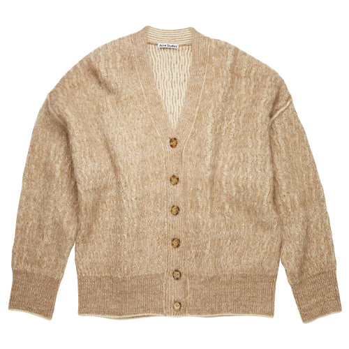 Brushed Melange Cardigan Camel