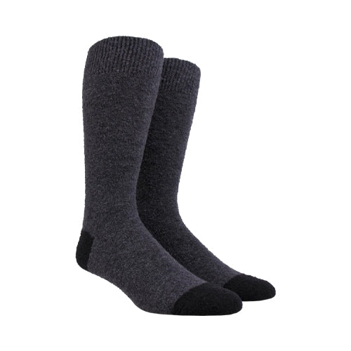 Fleece Wool Socks Dark Grey