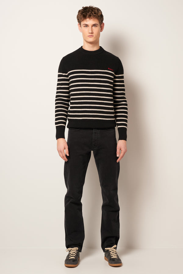 Mariniere Sweater Black/White