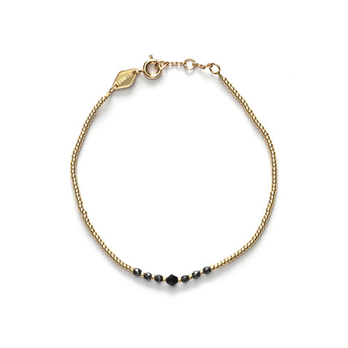 Bead & Gem Bracelet Black
