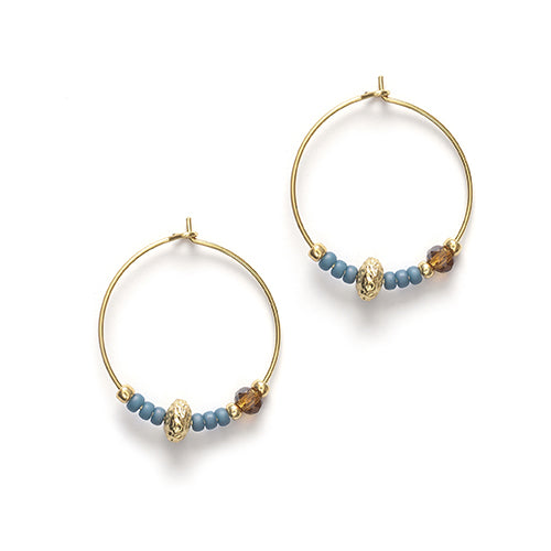 Wave Chaser Hoops Blue Fog