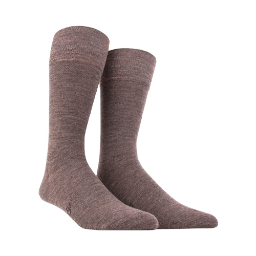 Wool and cotton socks MELANGE BROWN