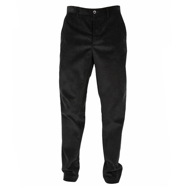Corduroy Trousers Black