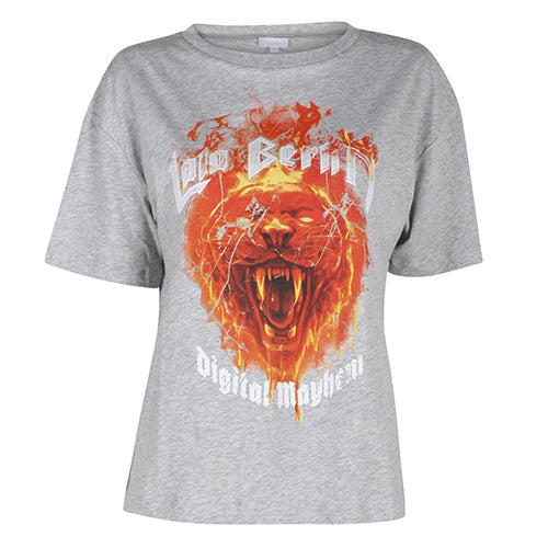 Rfi Fire Lion T-shirt Grey