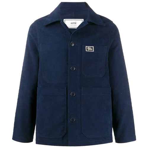 Worker Jacket Patch Pocket Navy