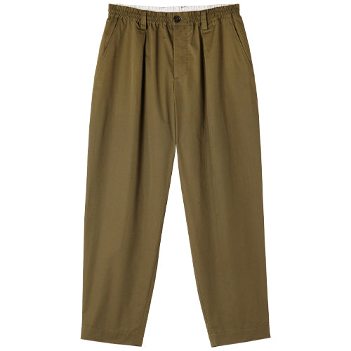 Cotton Twill Pants Olive