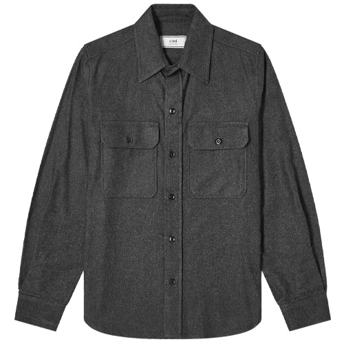 Buttoned Overshirt Heather Grey