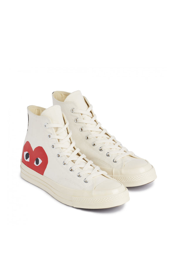 Chuck Taylor Red Heart High Sneakers White
